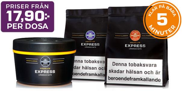 Swedsnus Express Lössnus - Färdig på 5 Minuter