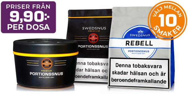 Swedsnus Portionssnus - 10 Olika Smaker