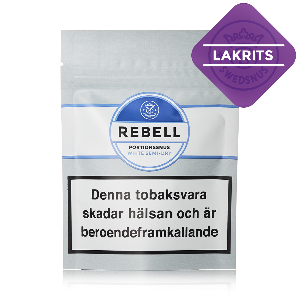 Rebell Lakrits Prov Portionssnus